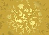Floral golden pattern - vector — Stock Vector
