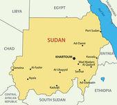 Republic of the Sudan - vector map — Stock Vector