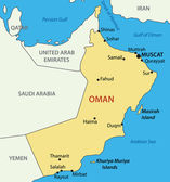 Sultanate of Oman - vector map — Stock Vector