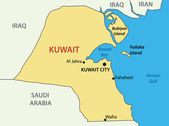 State of Kuwait - vector map — Stock Vector