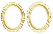 Vector set - golden beautiful frames — Stock Vector