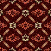 Decorative seamless brown pattern - vector — Stock Vector