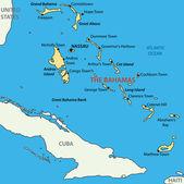 Bahamalar - vektör harita topluluğu — Stok Vektör