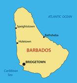 Barbade - carte vectorielle — Vecteur