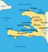 République d'haïti - carte vectorielle — Vecteur
