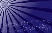 Fondo de música vector violeta — Vector de stock