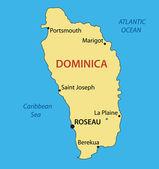 Commonwealth dominica - vektorkarte — Stockvektor