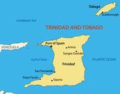 Republic of Trinidad and Tobago - vector map — Stock Vector