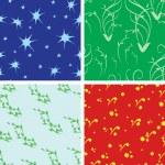 Set of 4 vector seamless textures — Stock Vector #3446763