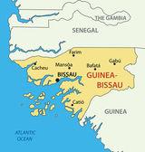 Republic of Guinea-Bissau - vector map — Stockvektor