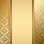 Zlaté pozadí s vintage vzorem - vektor — Stock vektor
