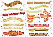 Set of vector stickers for valentine day — Stock Vector