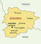 Principality of Andorra - vector map — Stock vektor