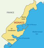 Principality of Monaco - vector map — Vecteur