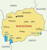 Republic of Macedonia - vector map — Stock Vector