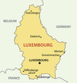 Grand Duchy of Luxembourg - vector map — Stock Vector