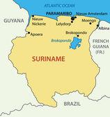 Republic of Suriname - vector map — Vetorial Stock
