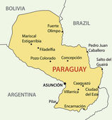 Republic of Paraguay - vector map — Wektor stockowy