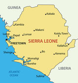Republic of Sierra Leone - vector map — Stock Vector