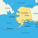 Alaska - vector map — Stok Vektör