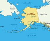 Alaska - vector map — Stock Vector