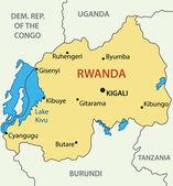 Republic of Rwanda - vector map — Stock Vector