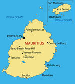 Republic of Mauritius - vector map — Stock Vector
