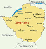 Republic of Zimbabwe - vector map — Stock Vector
