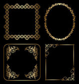 Gold floral decorative frames - vector — Stock Vector