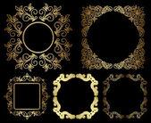 Or florales vintage frames - set vector — Vecteur