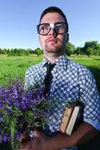 Un uomo con gli occhiali — Foto Stock