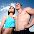 Athletic couple — Stock Photo