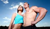 Atletik Çift — Stok fotoğraf