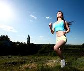 体育女人 — 图库照片