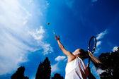 Sportiga kvinnan — Stock fotografie