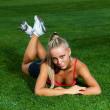 Sporty woman — Stock Photo