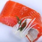 Fresh salmon — Stock Photo #19696349