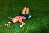 Sportif kadın — Stok fotoğraf