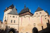 Gamla slott med torn — Stockfoto