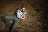 Redneck nerd man — 图库照片