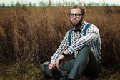 Redneck nerd man — Stock Photo