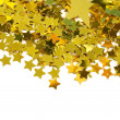 Golden stars isolated on white background - Foto de Stock