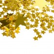 Foto Stock: Golden stars isolated on white background