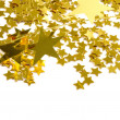 Golden stars isolated on white background — Stockfoto #12177677