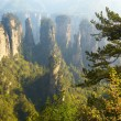 Zhangjiajie National Park, China. Avatar mountains - Stock Photo
