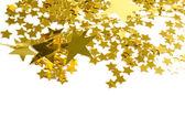 Estrelas douradas, isoladas no fundo branco — Foto Stock