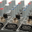 Audio mixing console — Stock Photo #13846153