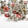 Screws, bolts and nuts on a white background — Stock Photo #13846094