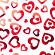 Red hearts background — Stock Photo #13846099