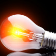 Photo of light bulb on black — Stock Photo #13846100